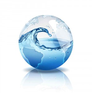 Clear sphere filled with water